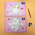 5Pcs/Lot DIY 18 Color Children Water Painting Board Painted the Coloured Drawing or Pattern 17.5*12.5cm Include Two pictures