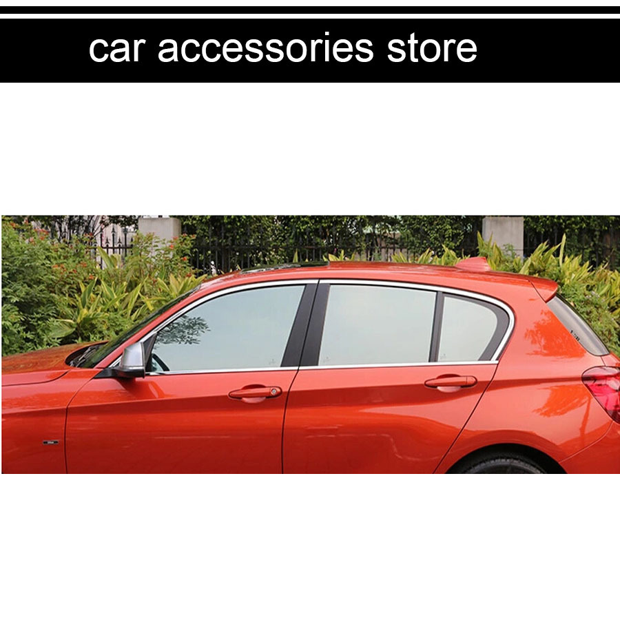wholesales 304 stainless steel car window trim decoration for bmw f20 114i 116i 118i 114d 116d 118d  2012 2013 2014 2015 2016 stainless steel full window with center pillar decoration trim car accessories for hyundai ix35 2013 2014 2015 24