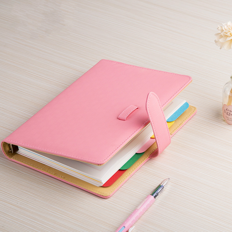 Portable Hand Books A5 Pocket Note Book Business Notebook Notepad Korea Diary Stationery Cute Kawaii Lovely Gift for Student