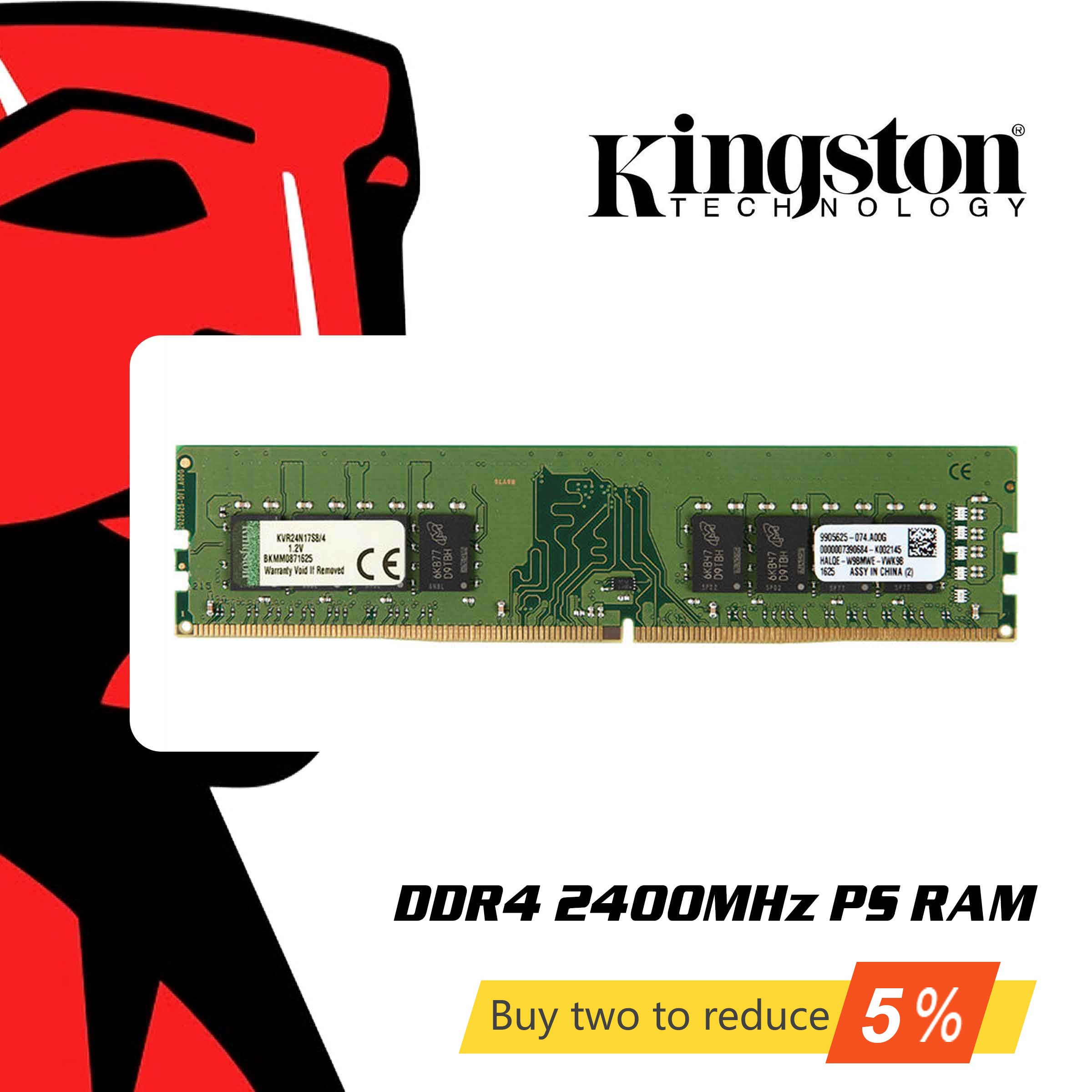 Original Kingston <font><b>DDR4</b></font> <font><b>RAM</b></font> Memory <font><b>8GB</b></font> 4GB 16GB <font><b>2400Mhz</b></font> Memoria DDR 4 8 16 Gigabytes Gigs Sticks for Desktop PC Notebook Laptop image
