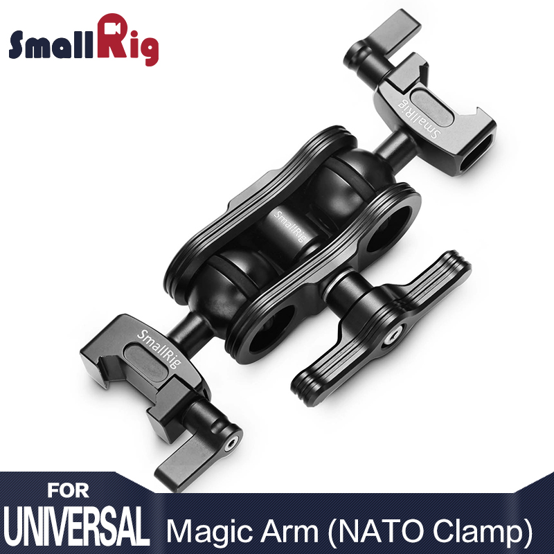 SmallRig Quick Release Camera Articulating Magic Arm with Double Ballheads NATO Clamp for EVF Monitor Support