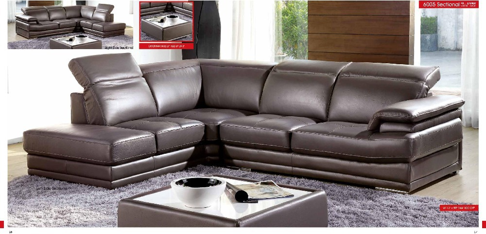 designer modern style top graded cow genuine leather sofa sectional - Furniture - Photo 4
