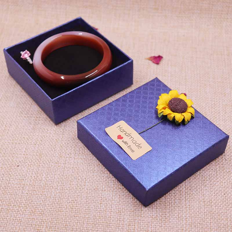 12pcs Bangle Box Necklace/Bracelt Box Jewelry Display Gift Box 9X9X3CM With 2Kind Of Flower Per Flower 6pcs And HandMade