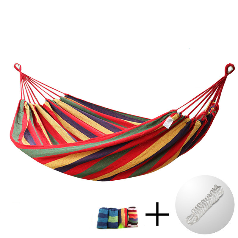 IPDTG Big Size 292cm*80cm Single-person Hammock Courtyard Outdoor Adult Swing Wild Camping Hanging Bed Ship From Germany Stock