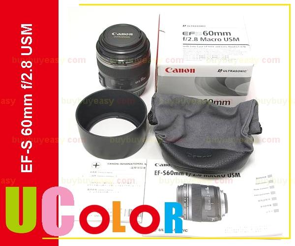 New Canon EF-S 60mm f/2.8 Macro USM Lens объектив canon ef 180mm f 3 5l macro usm