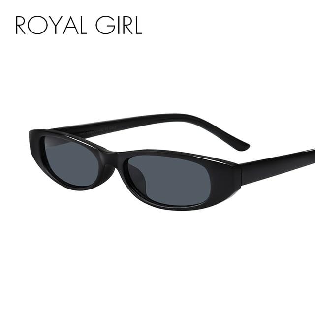6411f8341d2 ROYAL GIRL Vintage Oval Sunglasses Women Brand Designer 2018 Retro Small  Frame Sun Glasses Black Red Eyewear uv400 ss226