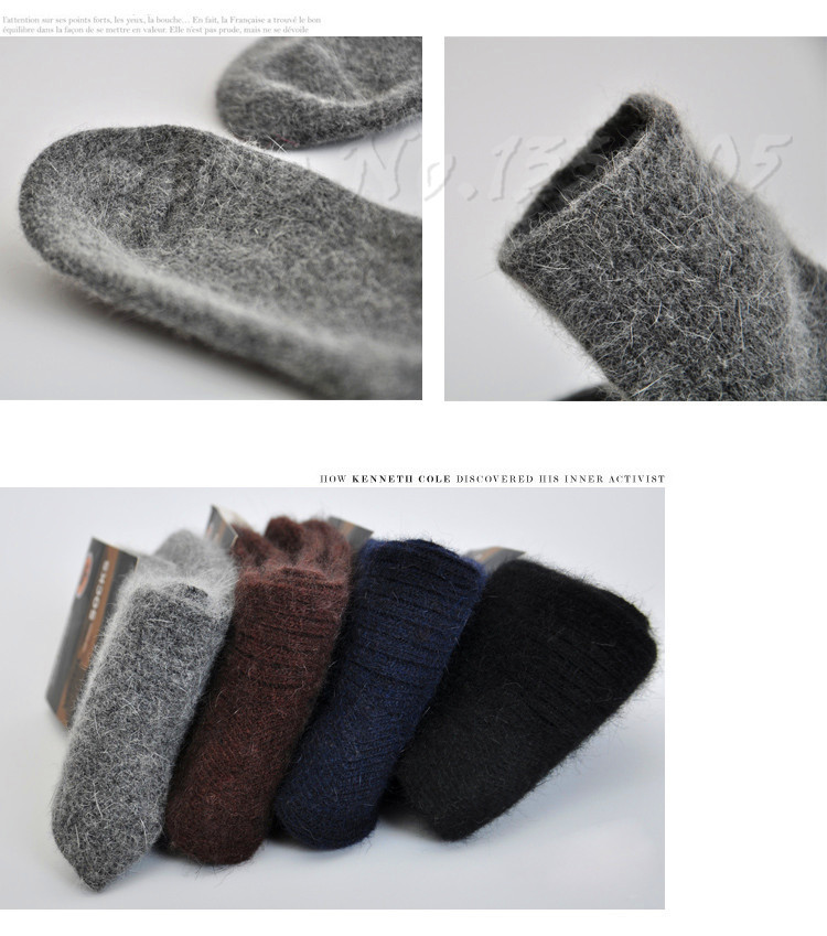 3x Men's Merino Wool Socks Warm Winter 26