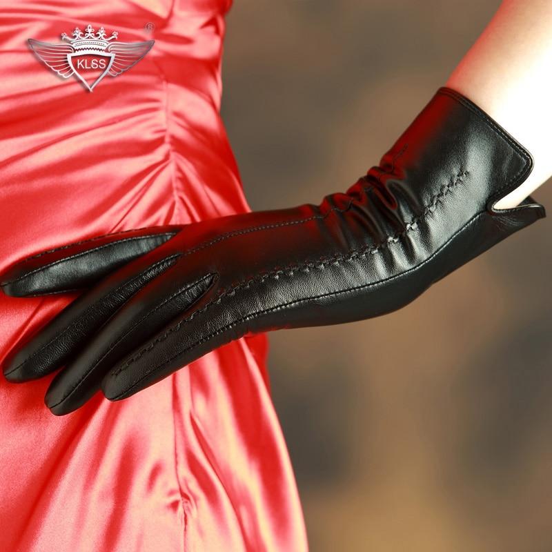 KLSS марка естествени кожени ръкавици - Аксесоари за облекла - Снимка 4