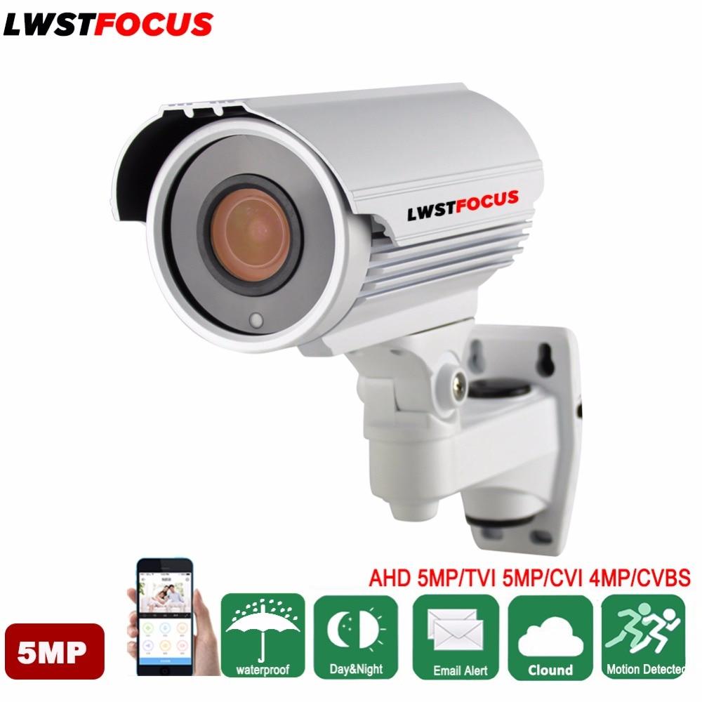 LWSTFOCUS 5MP AHD TVI Caméra 4MP CVI Caméra de Sécurité de Surveillance Caméra Étanche CCTV Caméra 4 Pcs LED Array 60 M vision nocturne
