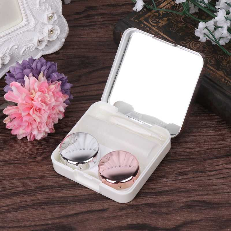 NoEnName_Null Set Of Lens Box Fashion Portable Travel Contact Storage Mirror Containers Holder