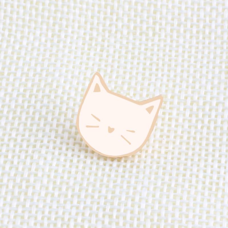 2 Pcs Set Hot Cartoon Cute Cat Animal Enamel Brooch Pin Badge Decorative Jewelry Style Brooches