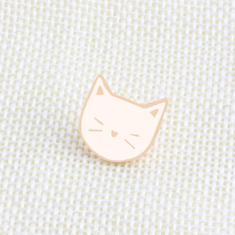 2 ชิ้น/เซ็ตการ์ตูนน่ารักแมวสัตว์เข็มกลัด Pin Badge เครื่องประดับตกแต่งสไตล์เข็มกลัดสำหรับของขวัญผู้หญิง