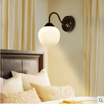 ФОТО Iron American Country LED Wall Lamp Vintage Simple Wall Light Fixtures For Home Lightings Balcony Bedside Light Home Lightings