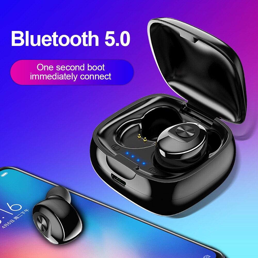 Kit Mãos Livres Bluetooth 5.0 Fone De Ouvido Sem Fio Fone De Ouvido HIFI Esporte Earbus TWS Gaming Headset Verdadeiro estéreo sem fio com Microfone para Celular