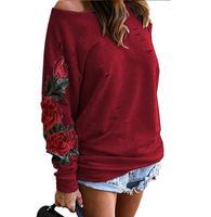Autumn Harajuku Hooeded Sweatshirt Elegant Flower Embroidery Sweatshirts with long sleeves hollow out Sweatshirt Plus Dimensions