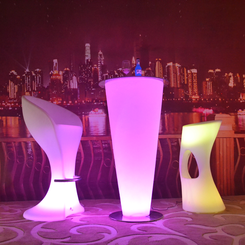 Colorful LED high light bar Coffee table up rechargeable, glowing wireless stand desk indoor/outdoor with adapter and remoter led light up bar table glowing night club furniture living room rechargeable luminous coffee tables
