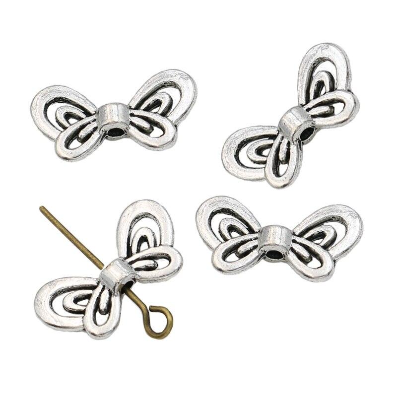 20pcs Tibetan silver butterfly  earring  Connectors
