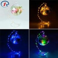 ZjRight New Led String Fairy Lights C Frame Dried Flower Petal Sachet Battery Glass Ball Christmas