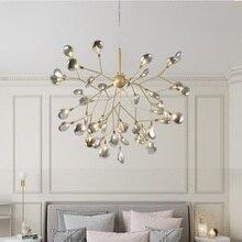 Lámpara LED moderna para candelabro luciérnaga, lámpara de araña de rama de árbol con estilo, candelabros de techo decorativos, iluminación Led colgante