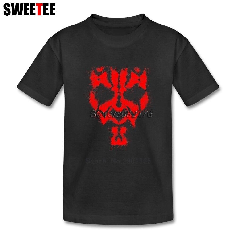 Darth Maul Grunge T Shirt Kids Pure Cotton Short Sleeve Crew Neck Tshirt Children Tops 2018 Class T-shirt For Boys Girls