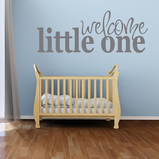 welcome little one waterproof pvc removable wall sticker baby room