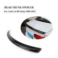 Carbon Fiber Rear Trunk Boot Spoiler Wing Lip For Audi A4 B8 Sedan Non Sline 2009 2015