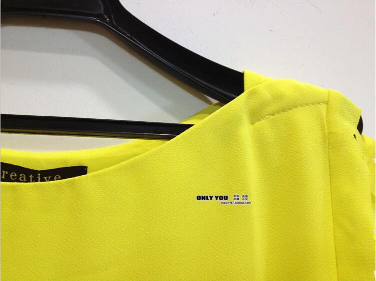 HTB1wLzxGFXXXXXEXVXXq6xXFXXXZ - New Summer shirt Short sleeve Chiffon Blouse Tops Clothing 5XL