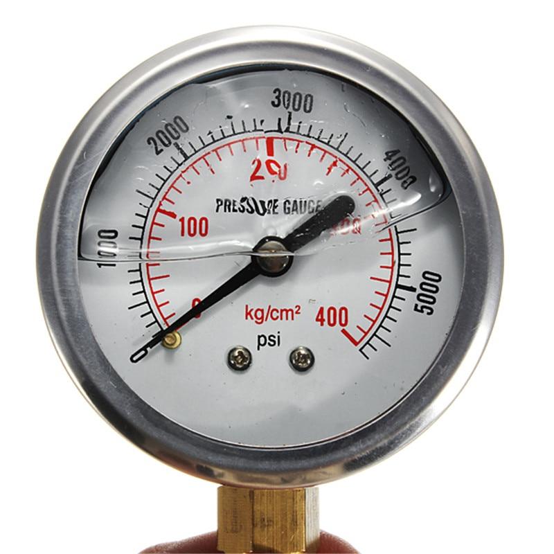 new arrival hydraulic liquid filled pressure gauge 0 5000 psi high quality in pressure gauges. Black Bedroom Furniture Sets. Home Design Ideas