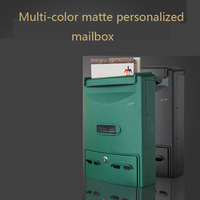 Mail box rainproof waterproof outdoor mailbox general manager suggestion box outdoor European wall hanging message box with lock