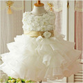 2017 New Design Kids Flower Girls Wedding Dress With Flowers Toddlers Girl Prom Dresses For Party Kids Girls Princess Clothing