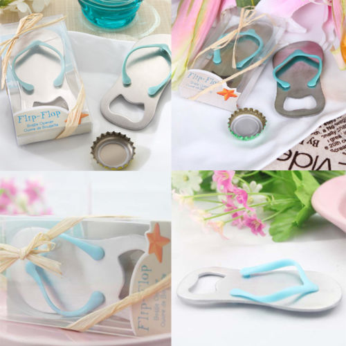 2017 New Fashion Flip Flops Beach Metal Bottle Opener Wedding Favor Box Lovely Cork Kitchen Hot In Openers From Home Garden On Aliexpress