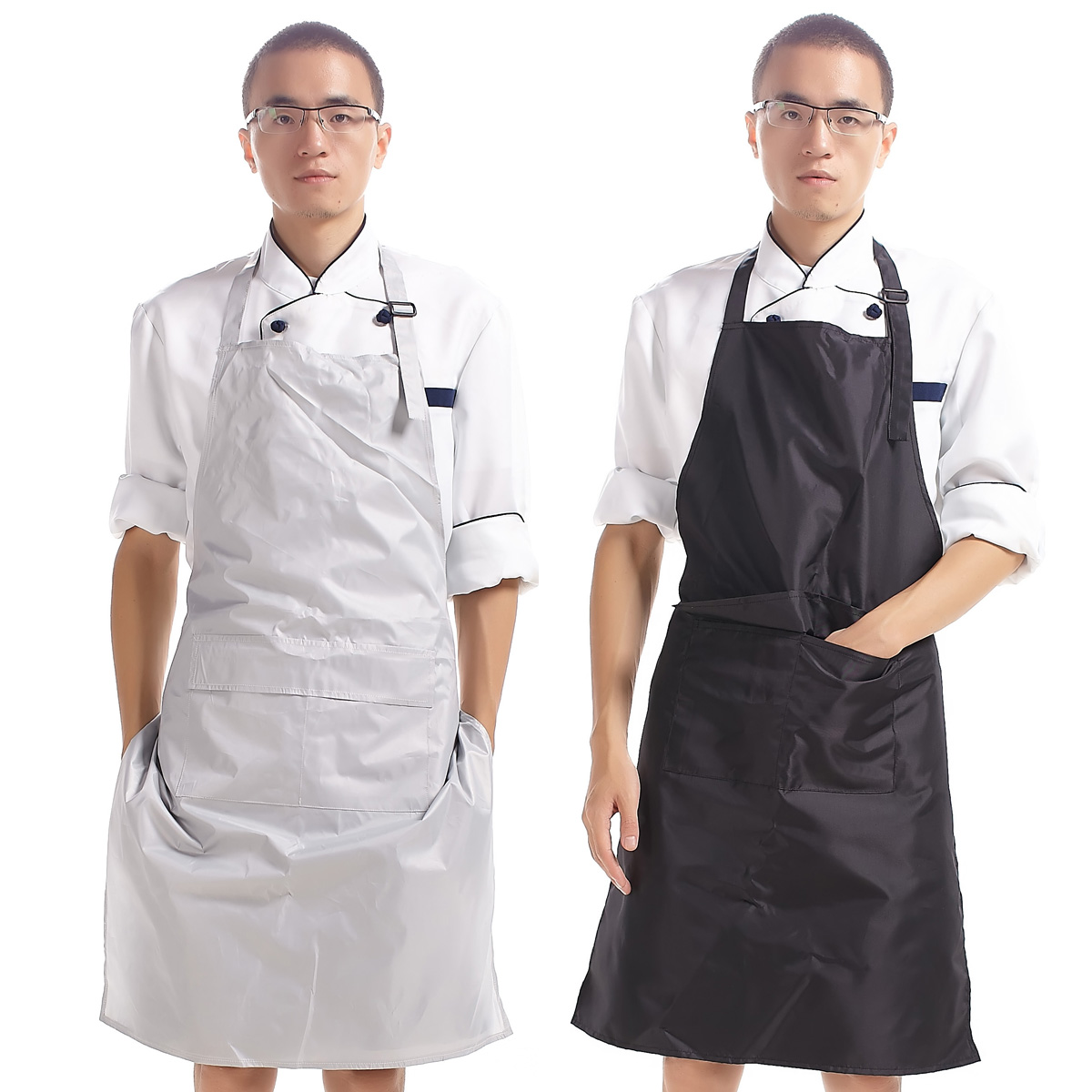 Seven Lotus PVC Waterproof antifouling unisex apron Cooking Kitchen ...