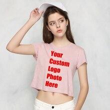 f2ff36a9c36 Lady Harajuku Women T Shirt Summer Tees T-shirts Solid Custom Made Logo  Photo Printed