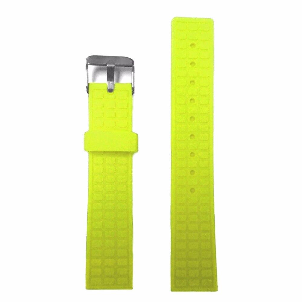 20mm Neon Yellow Sport Waterproof Silicone Rubber Watch Band Strap WB1224L20JB nika jump winter sport yellow