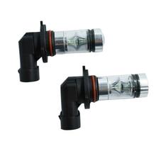 1 пара 8000 K Ice Blue 100 W высокомощный светодиодный фонарь для фар автомобильный комплект противотуманных фар 12-24 в дневные ходовые огни