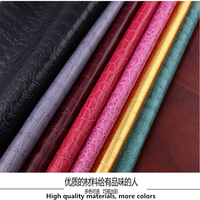 1pcs 50cm 138cm Bright Pvc Waterproof Leather Fabric Crocodile Pattern Artificial Leather Fabric Diy Handmade