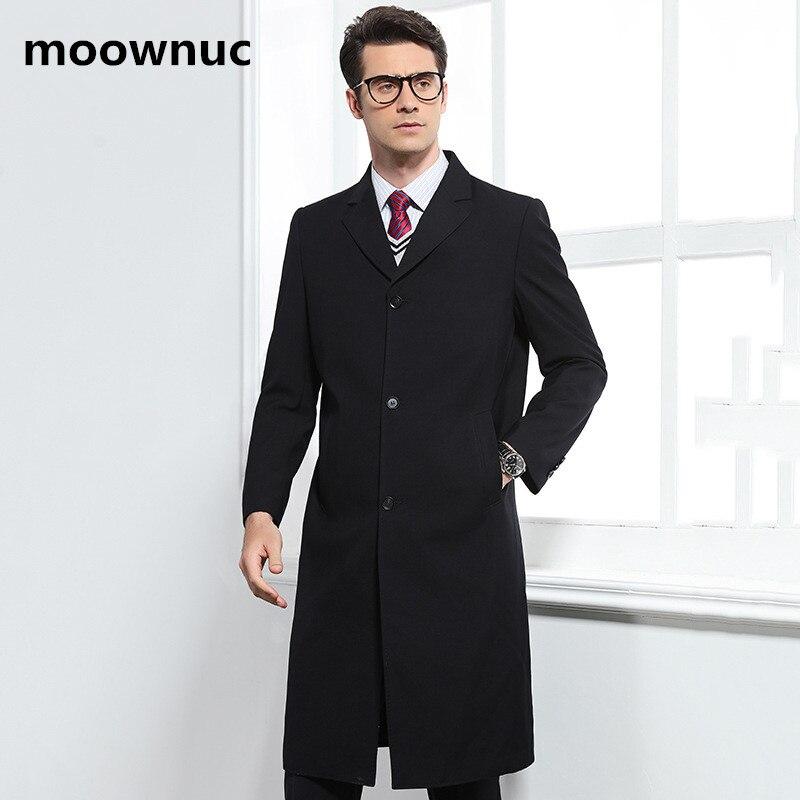 2018 automne Long style trench manteau hommes mode affaires décontracté coupe vent hommes de haute qualité manteaux hommes slim fit vestes