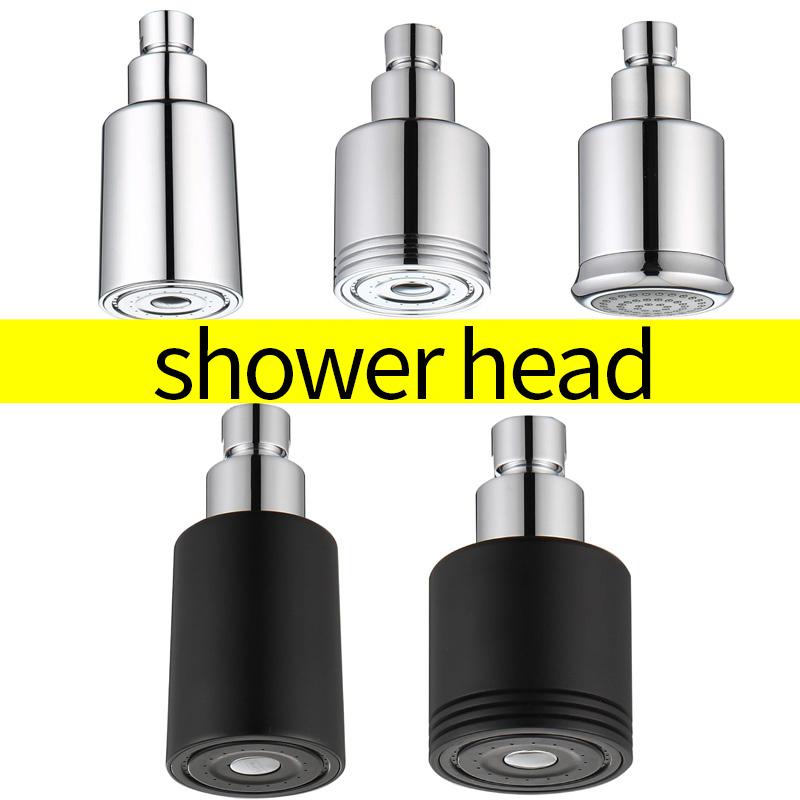 Bathroom Solid Brass High Pressure Small Matte Black Rain Shower Head Wall Mounted ABS Chrome Adjustable Bath Top Spray Shower