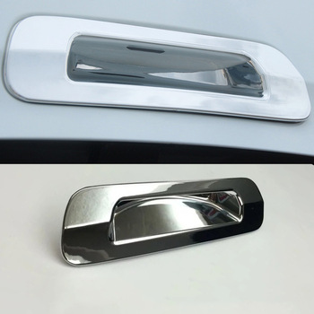ABS Chrome Fit For Isuzu MU-X 2015 2016 car accessories Car back Tail door rear handle bowl Cover Trim Sticker car styling 1pcs image