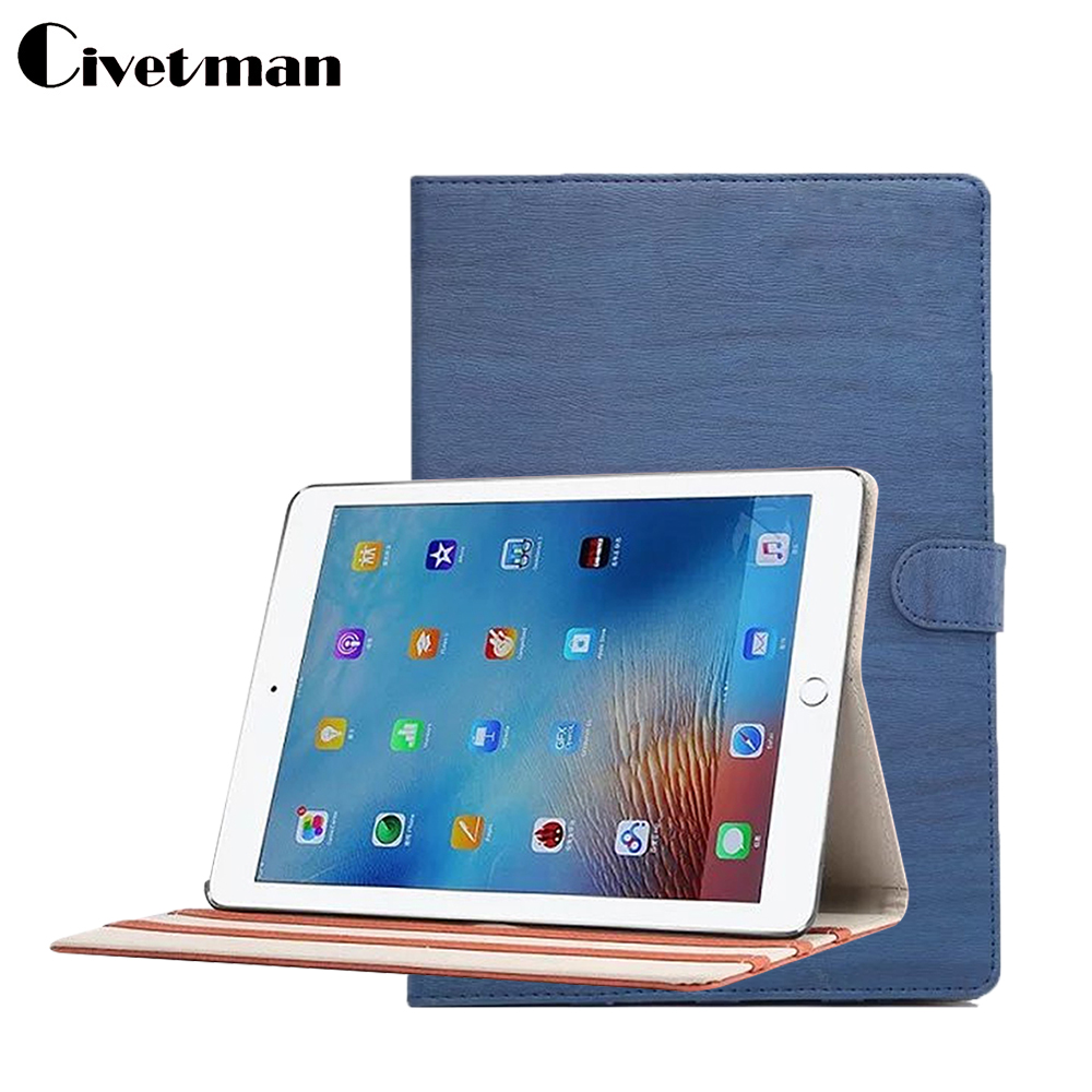 Civetman New Wood Grain Craft Leather Case Cover for iPad Air 1 with Smart Stand case for ipsd 5 tablet case 9.7 inch wood grain pu leather tablet cover for apple ipad air 1 ipad 5 stand case for ipad air 2 ipad 6 screen protector stylus pen