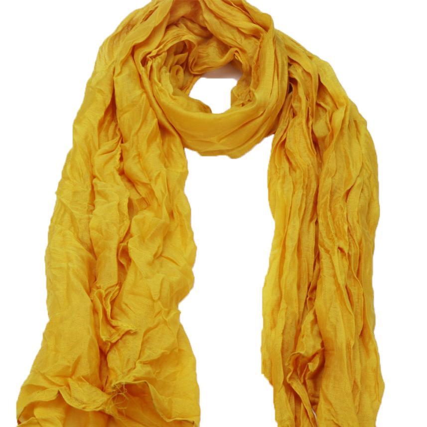 279111c5c women scarf Solid Joker fold large girl scarves Women Cotton neckerchief  Soft Wrap Shawl Scarf Long Stole Crinkle Candy muffler-in Women's Scarves  from ...