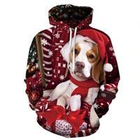 Christmas Women Hoodies Unisex Sweatshirt Men Brand Hoodie Winter Casual Dog Cat Tracksuit Pullover DropShip Streetwear Casual