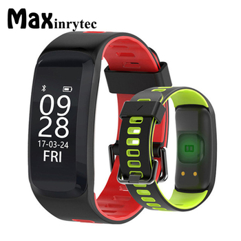 c79ed92bba8b F4 pulsera inteligente pantalla Color IP68waterproof presión arterial  oxígeno Monitor de ritmo cardíaco Smart Wristband para