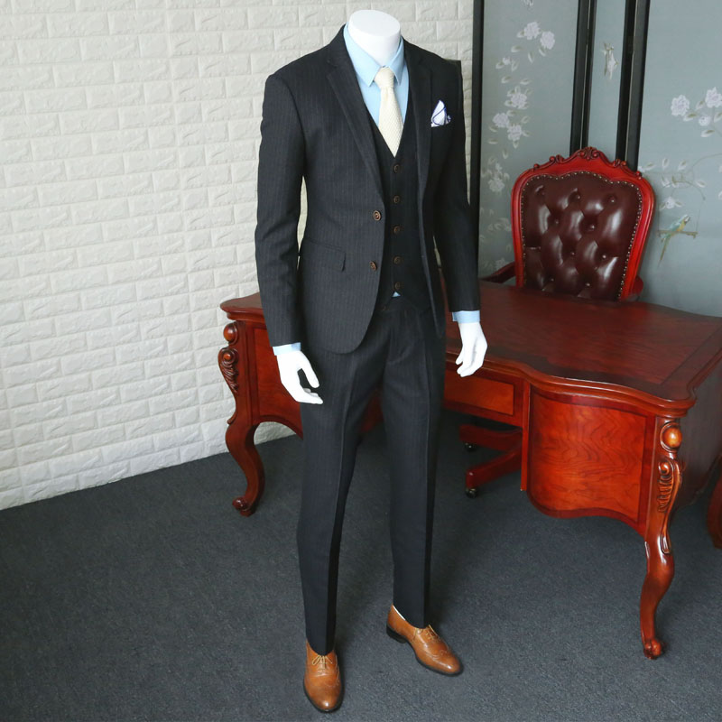 Business Casual Male Suit European Style Wedding Suit For