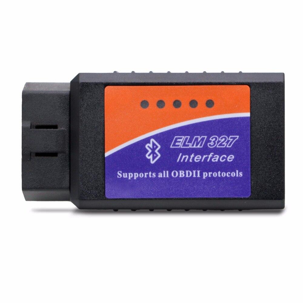 ELM 327 Bluetooth ELM327 OBDII / OBD2 Version Vehicle Diagnostic Scanner Tool Reader Works On Android