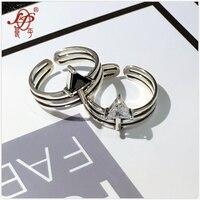 L & p 925 خواتم فضة مزيج macth للنساء الساخن بيع الفضة خاتم أزياء الشرير نمط تماما غرامة