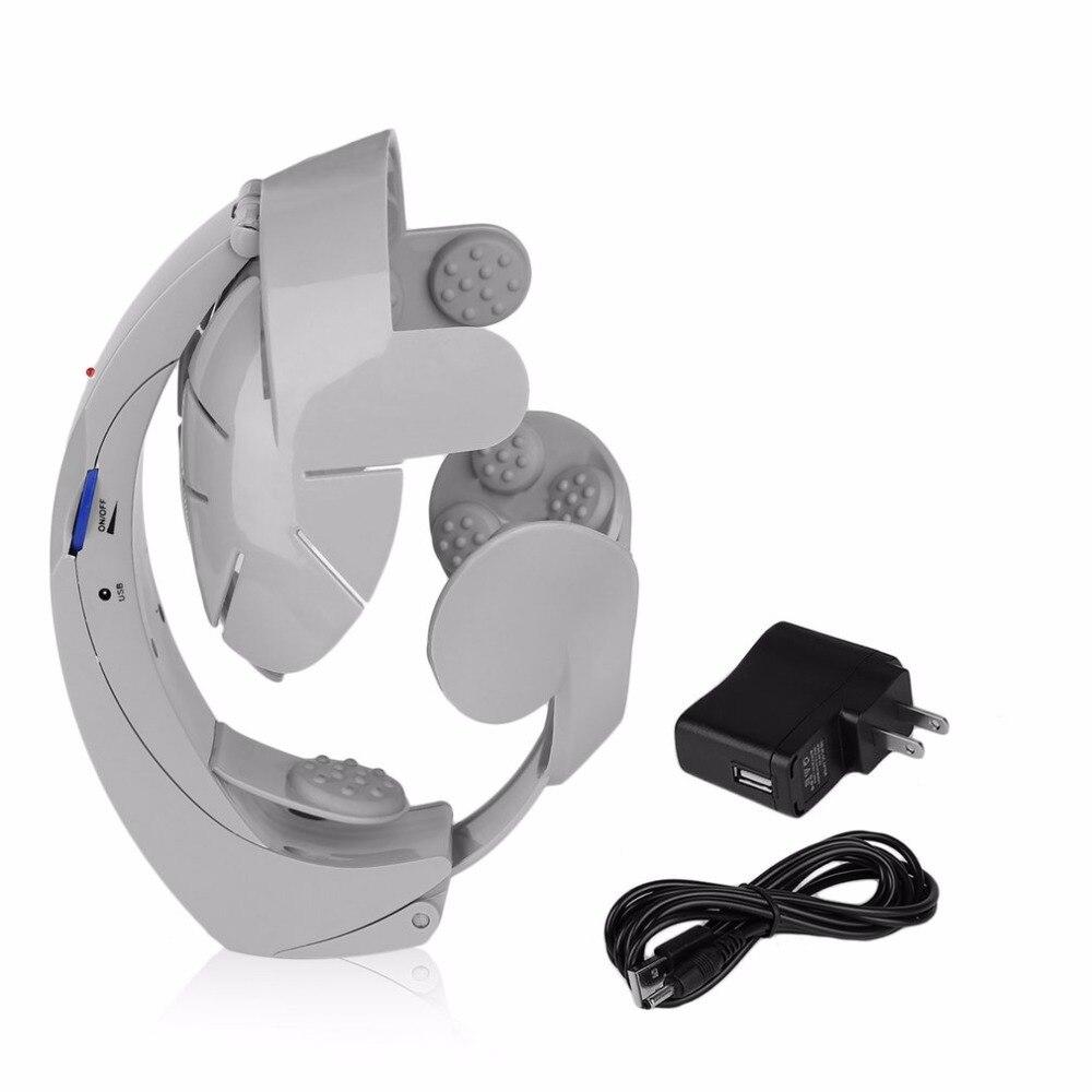 Электрический массажер для головы массаж мозга расслабляющий модный легкий акупунктурный точечный серый домашний расслабляющий гуманизированный дизайн забота о здоровье| |   | АлиЭкспресс