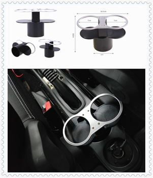 Auto parts ashtray drink bottle double hole cup holder drinking water for BMW E46 E39 E38 E90 E60 E36 F30 F30 image