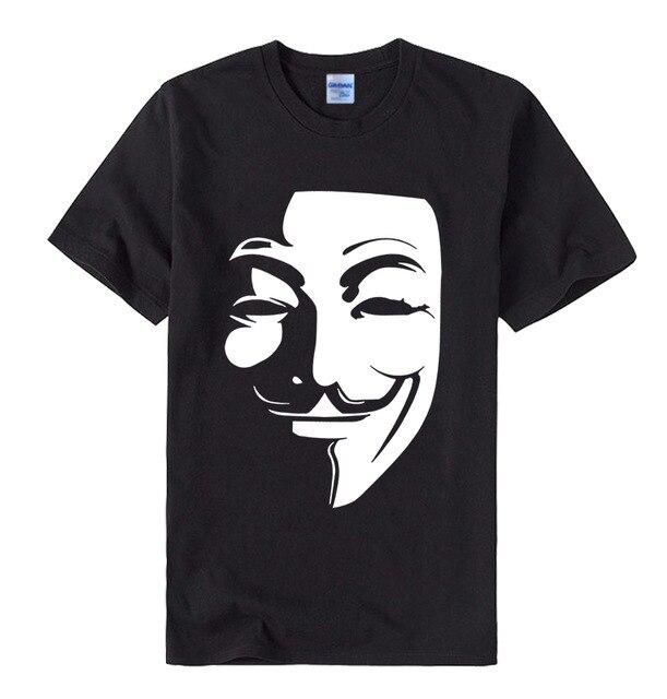 WE ARE LEGION T Shirt Anonymous V For Vendetta hacker Mask Mens Black tee