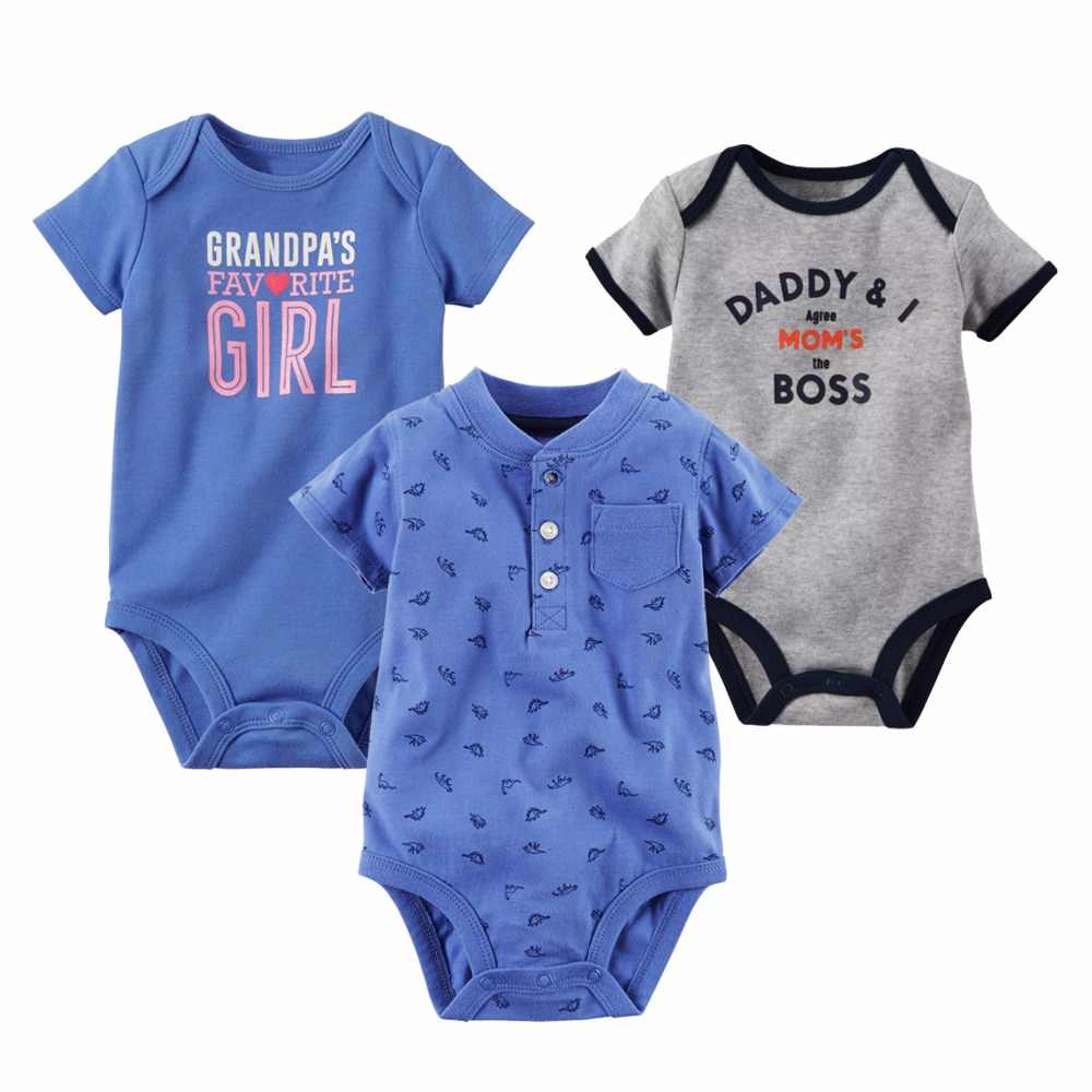 bc65d80dfefe1 New Baby Bodysuit Lovely Printing Infant Jumpsuit Pure Cotton Short Sleeve  Boys Girls Baby Clothes